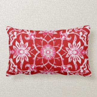 Art Nouveau Chinese Pattern - Deep Red Throw Pillow