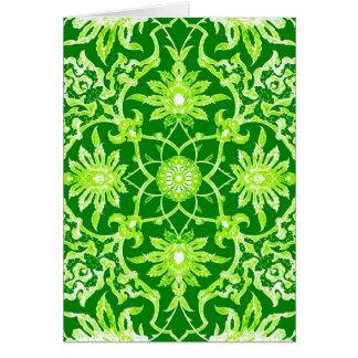 Art Nouveau Chinese Pattern - Emerald Green Card