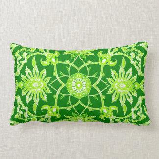 Art Nouveau Chinese Pattern - Emerald Green Throw Pillow