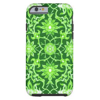 Art Nouveau Chinese Pattern - Emerald Green Tough iPhone 6 Case