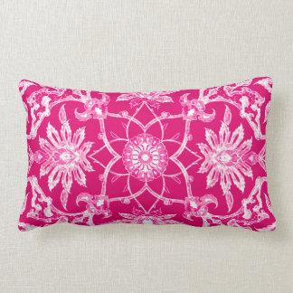 Art Nouveau Chinese Pattern - Fuschia Pink Throw Pillow