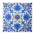 """Art Nouveau Chinese Tile - Cobalt Blue &amp; White<br><div class=""""desc"""">Art Nouveau textile pattern,  based on a vintage William Morris chinoiserie ceramic tile design,  in shades of cobalt blue,  turquoise and deep sienna red,  on a white background - digitally restored and enhanced</div>"""
