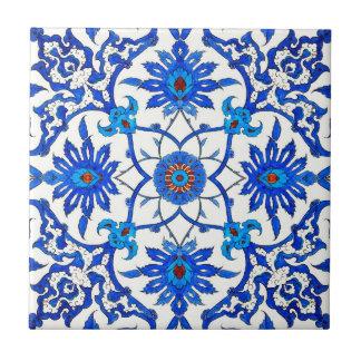 Art Nouveau Chinese Tile - Cobalt Blue & White