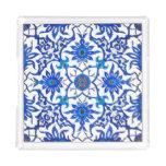 Art Nouveau Chinese Tile - Cobalt Blue & White Acrylic Tray