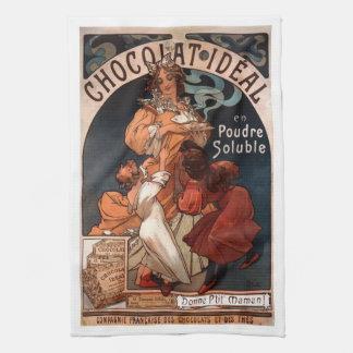 Art Nouveau Chocolate Kitchen Towel