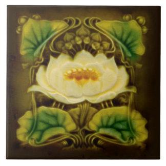 Art Nouveau Chocolate Marsden Majolica Floral Tile