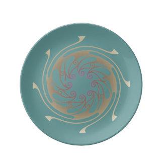 Art Nouveau Circled Design Plate
