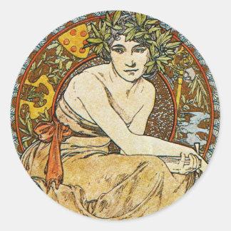Art Nouveau Classic Round Sticker