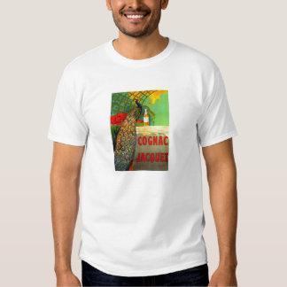Art Nouveau Cognac Ad with Peacock Shirt
