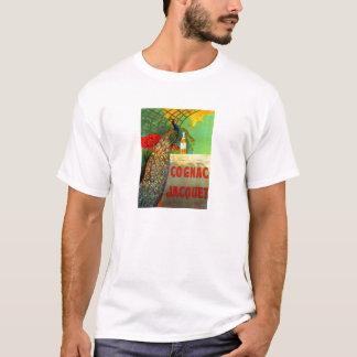 Art Nouveau Cognac Ad with Peacock T-Shirt