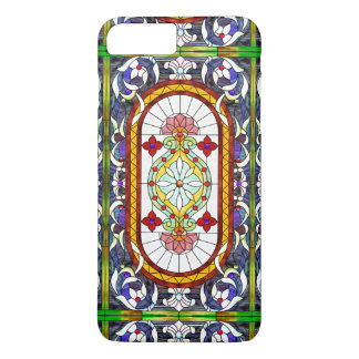 Art Nouveau Colorful Tiffany Stained Glass Window iPhone 7 Plus Case