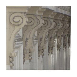 Art Nouveau Columns Ceramic Tile