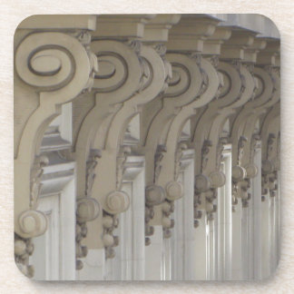 Art Nouveau Columns Drink Coaster