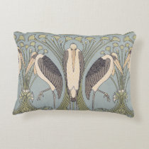 Art Nouveau Crane Pillow
