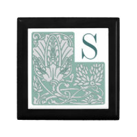Art Nouveau Custom Monogram Tile Gift Box