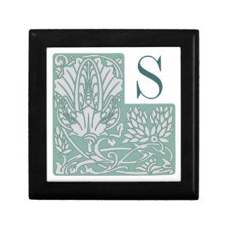 Art Nouveau Custom Monogram Tile Gift Box