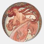 Art Nouveau - Dance Classic Round Sticker