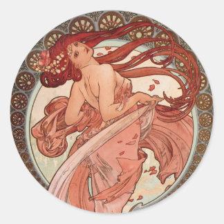 Art Nouveau - Dance Round Stickers