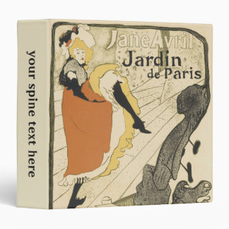 Art Nouveau Dancer Jane Avril, Toulouse Lautrec Binder