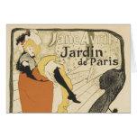 Art Nouveau, Dancer Jane Avril, Toulouse Lautrec Greeting Card
