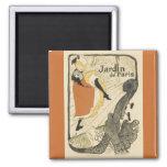 Art Nouveau Dancer Jane Avril, Toulouse Lautrec Magnet
