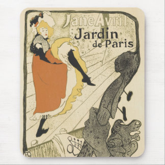 Art Nouveau Dancer Jane Avril, Toulouse Lautrec Mouse Pad