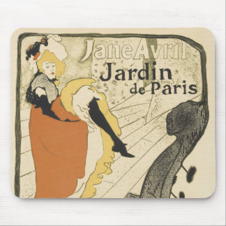 Art Nouveau Dancer Jane Avril, Toulouse Lautrec Mouse Pad