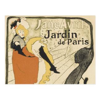 Art Nouveau Dancer Jane Avril, Toulouse Lautrec Postcard
