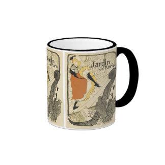 Art Nouveau Dancer Jane Avril, Toulouse Lautrec Ringer Mug