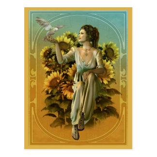 Art Nouveau Daytime Postcard