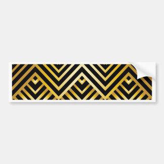 art nouveau,deco,gold,black,chic,elegant,vintage, bumper sticker