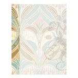 art nouveau decorative bliss pattern letterhead