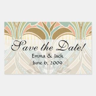 art nouveau decorative bliss pattern rectangular sticker