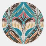 Art Nouveau Design #11 at Emporio Moffa Round Stickers