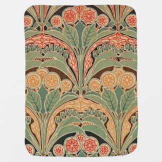 Art Nouveau Design #3 at Emporio Moffa Receiving Blanket