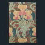 """Art Nouveau Design #4 at Emporio Moffa Kitchen Towel<br><div class=""""desc"""">Vintage Art Nouveau floral pattern.</div>"""