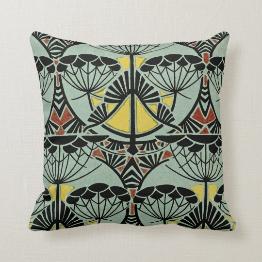 Art Nouveau Design #5 @ VictoriaShaylee Throw Pillow