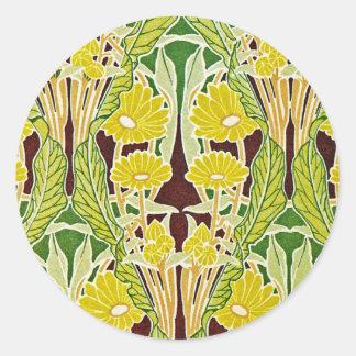 Art Nouveau Design #7 at Emporio Moffa Classic Round Sticker