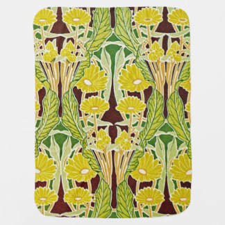 Art Nouveau Design #7 at Emporio Moffa Swaddle Blanket