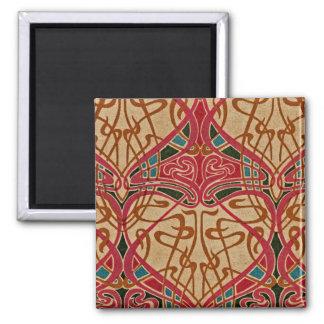 Art Nouveau Design #9 at Emporio Moffa 2 Inch Square Magnet