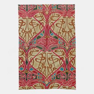 Art Nouveau Design #9 at Emporio Moffa Kitchen Towel