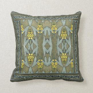 Art Nouveau Design Border Throw  Pillow