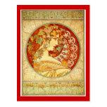 Art Nouveau design Postcard