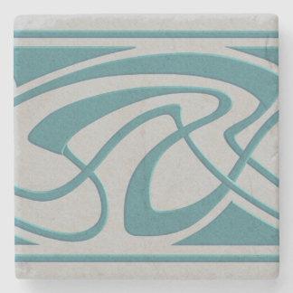 Art Nouveau Design Stone Coaster