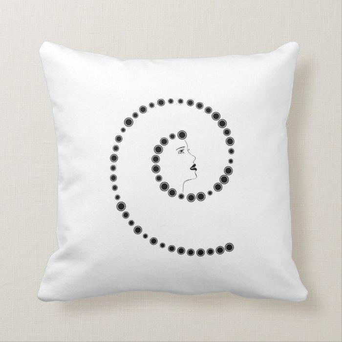 Art Nouveau Design Throw Pillow