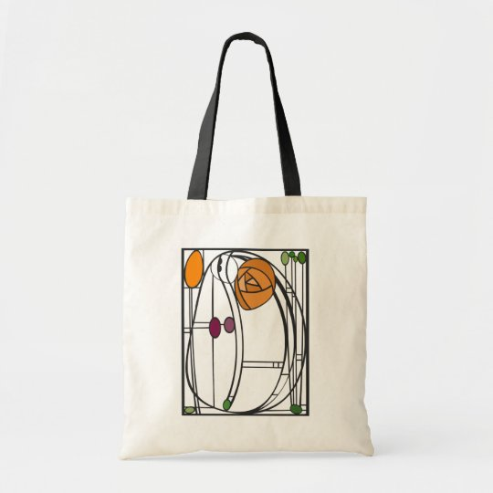 Art Nouveau Design Tote Bag in Orange