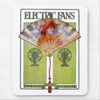 Art Nouveau Electric Fan ad Mouse Pad