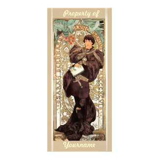 Art Nouveau Ex-Libris Bookmark Rack Card