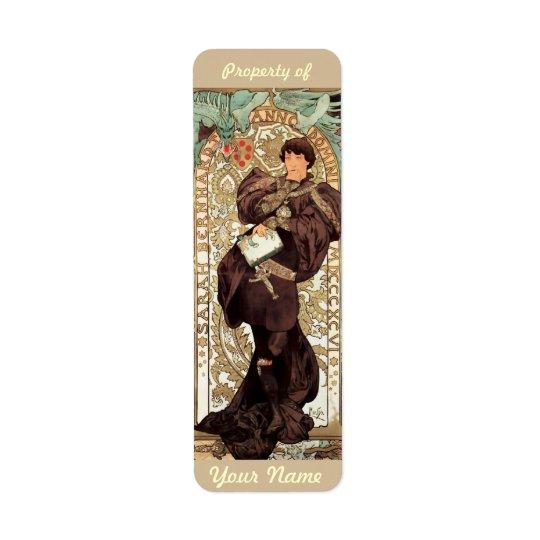Art Nouveau Ex-Libris Bookplate Booklabel