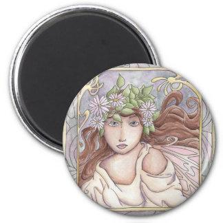 Art Nouveau Fairy 2 Inch Round Magnet